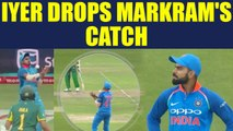India vs South Africa 5th ODI : Sheryas Iyer drops Markram's catch, Kohli gets angry | Oneindia News