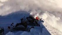 Une avalanche surprend des skieurs