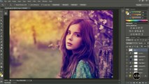 Adobe Photoshop CC Tutorial - Warm Color Effect - Without Plugins