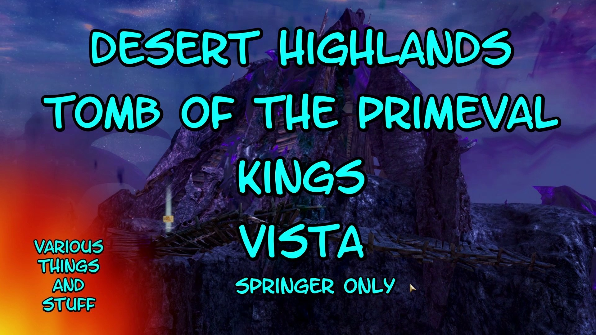 Guild Wars 2 Desert Highlands Tomb Of The Primeval Kings Vista Video Dailymotion
