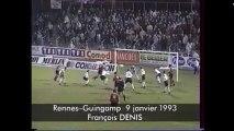 09/01/93 : François Denis (17') : Rennes - Guingamp (3-0)