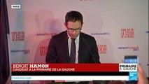 REPLAY - Discours de Benoit Hamon en tête du 1er tour de la Primaire de la gauche