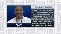 Tiki and Tierney: LaVar Ball says Lonzo won't resign with Lakers unless they sign his brothers