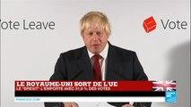 """BREXIT - Le Royaume-Uni sort de l'UE : Retrouvez l'intervention de Boris Johnson, partisan du """"LEAVE"""