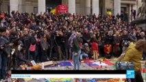 Attentats de Bruxelles - La Belgique en deuil : Minute de silence observée
