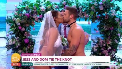 Love Island's Jess And Dom Get Married Live On Good Morning Britain