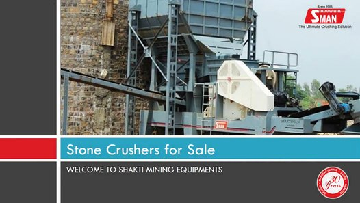 Stone Crushers for Sale