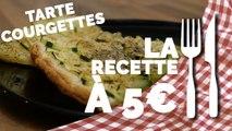 RECETTE À 5€ : Tarte fine aux courgettes et parmesan