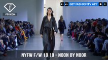 New York Fashion Week Fall/Winter 18 19 - Noon By Noor | FashionTV | FTV
