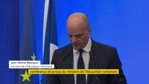 """Réforme du bac: Jean-Michel Blanquer a annoncé """"la fin des séries"""" L, ES et S (littéraire, économique et social, scientifique) pour la voie générale, dans le cadre de la réforme du bac dont la première session aura lieu en 2021"""
