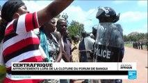 Centrafrique : heurts en marge du Forum de Bangui