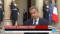 """Nicolas Sarkozy : """"Les hommes civilisés doivent s'unir pour répondre à la barbarie"""" - CHARLIE HEBDO"""