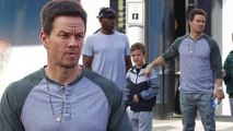 Boys only! Doting dad Mark Wahlberg takes his sons for last-minute holiday shopping on Christmas Eve.