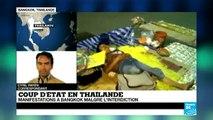 Thaïlande : manifestations à Bangkok malgré l'interdiction, dispersée par l'armée