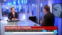 """""""L'Ukraine est la pièce maîtresse du projet de la Russie de Poutine"""" dit E.Cue sur FRANCE 24"""