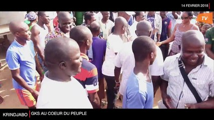 Guillaume SORO au cœur du peuple de KRINDJABO