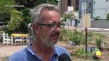 Correio Debate - Moradores do bairro Jardim Oceania, em João Pessoa, adotaram um terreno baldio que tinha no bairro e transformaram o local em uma praça com direito a horta e tudo