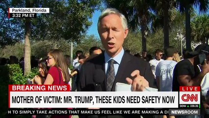 Mother of slain Florida student screams at Trump live on camera — and Brooke Baldwin breaks down in tears