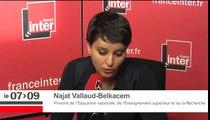 """Najat Vallaud-Belkacem : """"Il faut un terrain d'accueil pour les migrants du lycée Jean Jaures"""""""