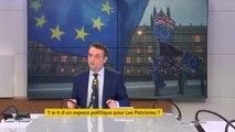 """Sortie de la France de l'Union européenne : """"Sur l'enjeu écologique, économique, migratoire, si on n'est pas un pays libre et si on n'est pas sorti de l'UE, alors on ne peut rien faire. Les Patriotes seront aux élections européennes"""""""