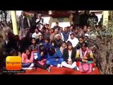 अल्मोड़ा में मेडिकल कालेज के बजट के लिए लोगों ने दिया धरना