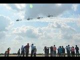 हेलीकॉप्टर-एयरक्राफ्ट के करतब II IAF brave-hearts display a breath taking air show, Allahabad
