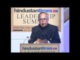 HT Leadership Summit Archives:  Pranab Mukharjee in 2009 summit part 1