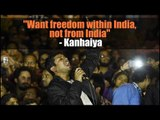Want freedom within India, not from India: Kanhaiya