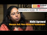 Innovators under 35 Winners | Nidhi Agrawal Manager, R&D, Pluss Advanced Technologies