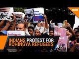 Indians protest outside Myanmar Embassy over Rohingya refugees