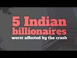 Top 5 Indian billionaires worst hit by the stock market crash