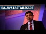 Outgoing RBI governor Raghuram Rajan's parting shot