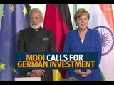 Modi meets Angela Merkel, says India waiting with open arms for German investments