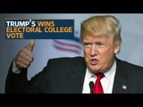 Electoral College officially cast votes to make Donald Trump president