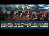 Afghanistan's all-female orchestra strikes closing note at the World Economic Forum in Davos