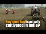 How much land is actually cultivated in India?
