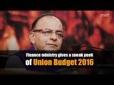 Finance ministry gives a sneak peek of Union Budget 2016