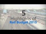 Rail Budget 2015   5 highlights