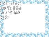 PNY Carte mémoire SDHC Elite Performance 32 Go Classe 10 UHS1 U3 avec une vitesse de
