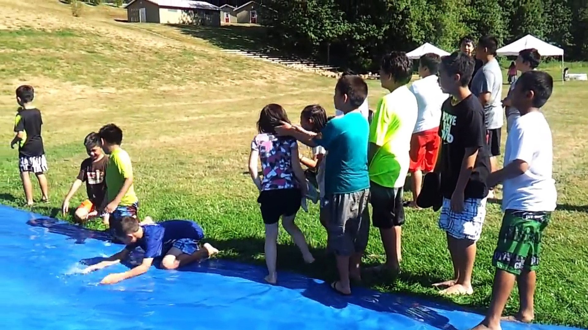NorthWest Kids Village - Slip n' Slide activity - YouTube