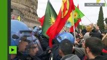 Italie : des heurts lors de la manifestation contre la visite d'Erdogan au Vatican