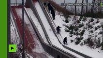 Exercices antiterroristes sur le site des Jeux olympiques d'hiver à Pyeongchang
