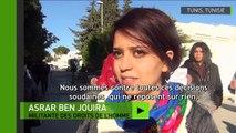 Manifestation contre les Emirats arabes unis à Tunis après une mesure visant ses ressortissantes