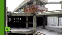 Images d'un hôpital en ruines du KGB filmée par un drone avant sa démolition
