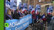 «Stop aux abus !» : Les cadres du FN manifestent contre la «dictature des banques»