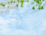 Samsung Galaxy S6 Housse Outdoor Étui militaire Coque Fleurs Fleurs Or