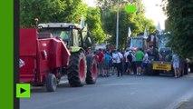 La Rochelle: manifestation d'agriculteurs contre le retard des aides de la PAC