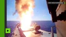 Des navires russes lancent quatre missiles de croisière sur les positions de Daesh près de Palmyre