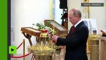 Accompagné par Rachida Dati et Anne Hidalgo, Vladimir Poutine visite la cathédrale orthodoxe à Paris