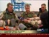 Guerre Irak - CNN - 23 mars 2003 : prise d'un port irakien